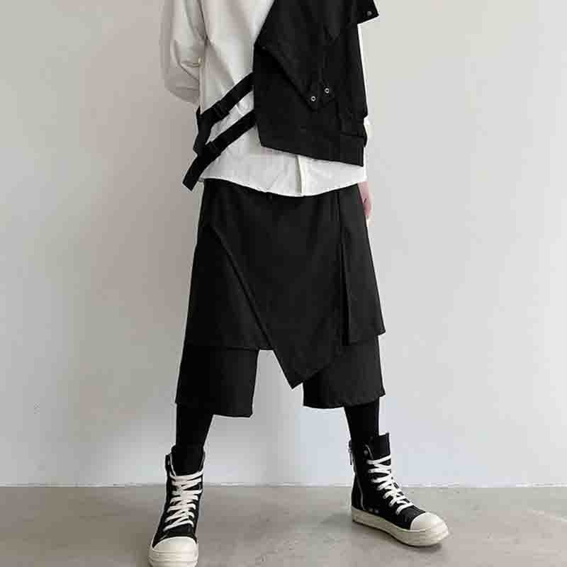 2020 chaopai اليابانية شخصية ياماموتو الأقلية الظلام غير النظامية عارضة السراويل 2-قطعة تنورة السراويل 8-جزء السراويل الرجل