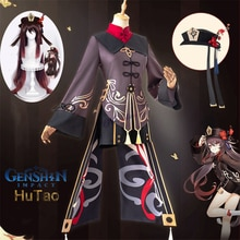 Genshin Impact Hutao Costume Cosplay parrucca uniforme Cosplay gioco Anime Hu Tao costumi di Halloween in stile cinese per donne