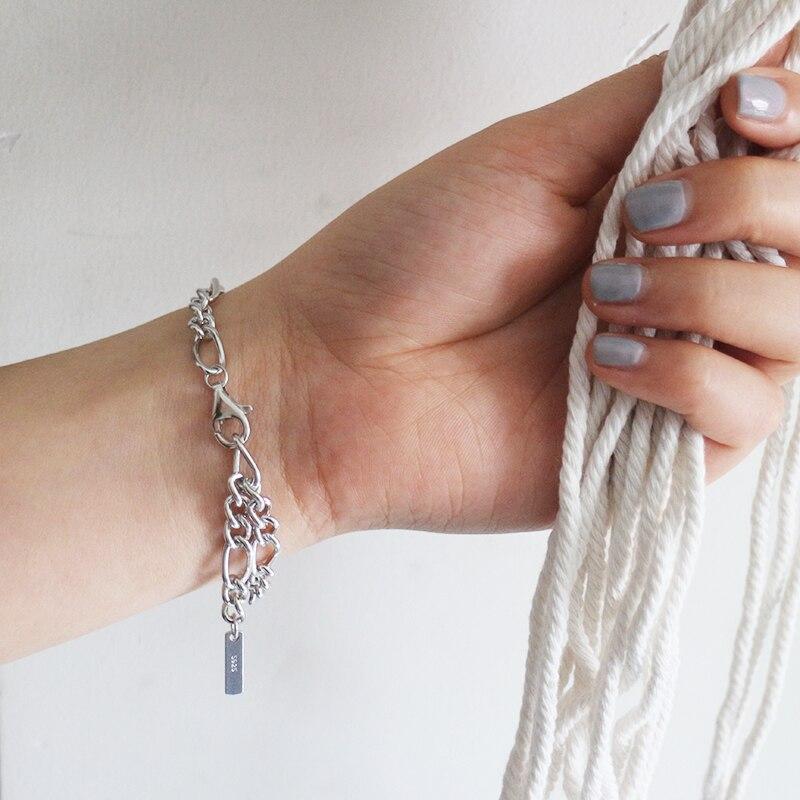 Pulseras con nudo para mujer, joyería de plata 925 pura, brazalete Noeud, pulseras, joyería de moda