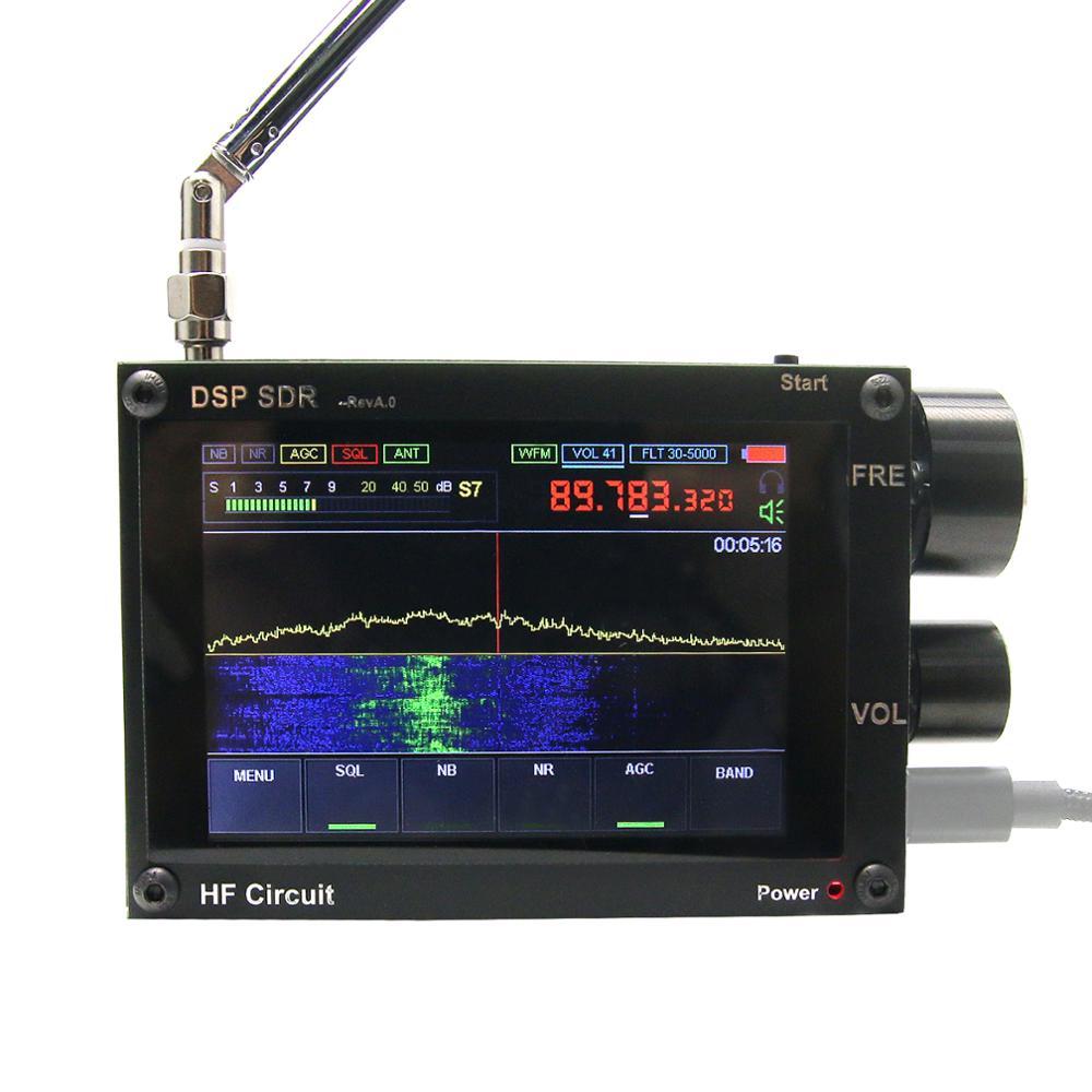 1. 10c البرامج الثابتة F3.5 بوصة 50 كيلو هرتز-2 جيجا هرتز الملكيت DSP مالاهيت SDR راديو استقبال صوت جميل مع هوائي تهتز الدوائر