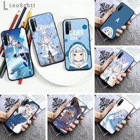 hololive usada pekora gawr gura phone case for xiaomi redmi note 7 8 9 pro 8t 9s mi note 10 lite pro