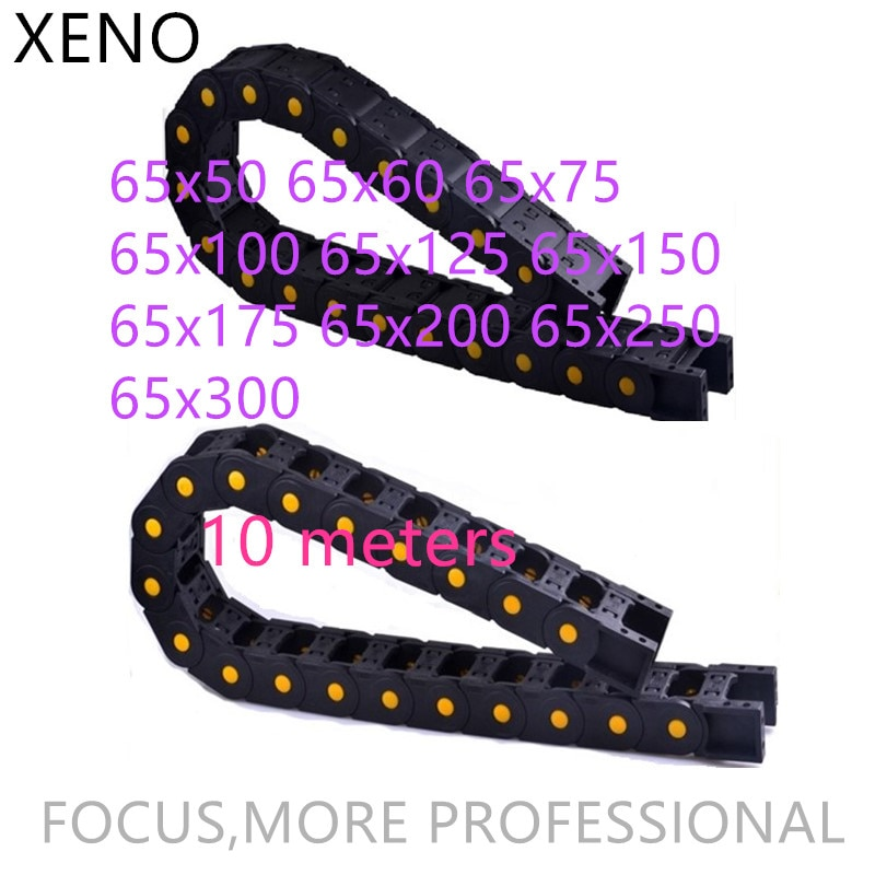 سلسلة سحب الكابلات البلاستيكية من النايلون ، صينية الكابلات ذات السلسلة 65 ، 10 أمتار ، البيع بالجملة