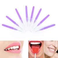 adults toothpick dental floss 8pcs new push pull interdental brush orthodontic dental cleaning brushes