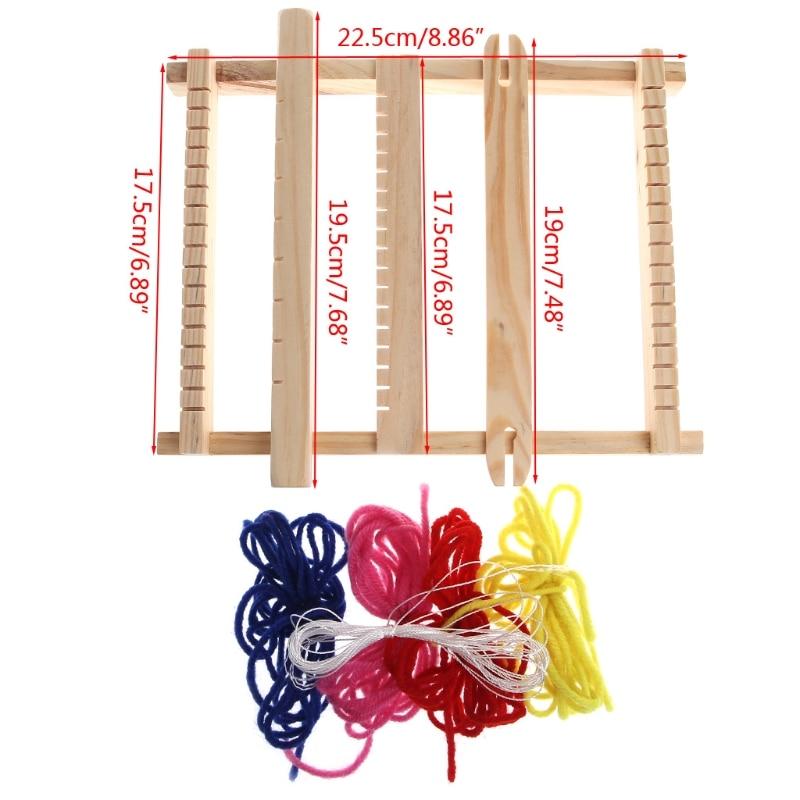 Фото - Child DIY Wooden Handloom Developmental Toy Yarn Weaving Knitting Shuttle Loom the loom пальто