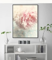 nordic style pink peony wall art canvas painting poster modern decor picture for living room bedroom dining room aisle entrance