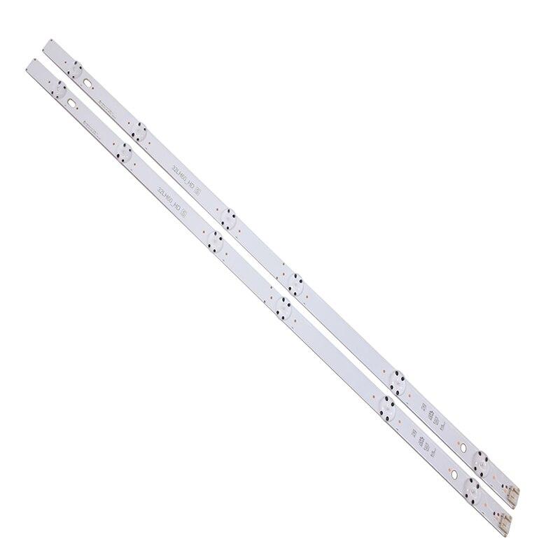 "615mm LED Backlight strip 6 lamp voor LG 32 ""TV 32LH60_HD SSC_32inch_HD 32LW340C 32LF510 32MB17 HD_LF51 LG innotek directe 32 ""CSP"