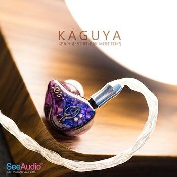 SeeAudio Kaguya Earbuds 4BA+4EST ELECTROSTATIC IN-EAR Earphones Released See Audio IEM Headphones