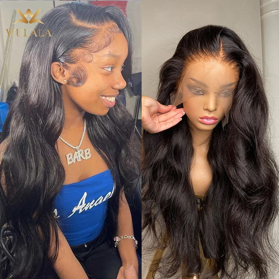 Hd Lace Frontal Wigs Transparent Full Lace Human Hair Wigs For Black Women 30 Inch Brazilian Bob 13x4 Body Wave Lace Front Wig