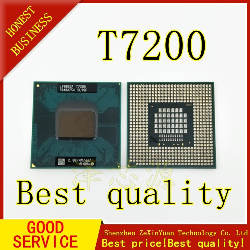2PCS T7200 7200 SL9SF CPU 4M Socket 479 (Cache/2.0GHz/667/Dual-Core) Laptop processor