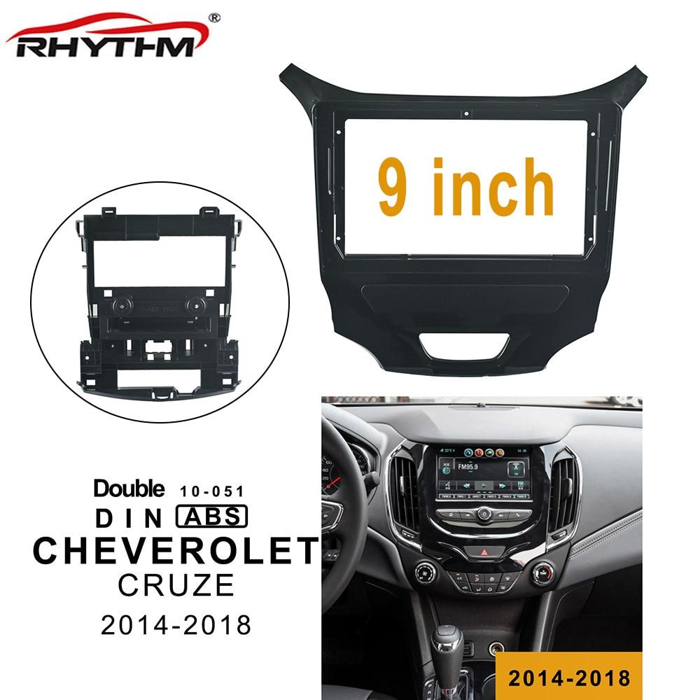 9 zoll 2din Auto Radio Fascia Für CHEVROLET CRUZE 2014-2018 Blenden Audio Fitting Adapter Panel Rahmen Kits Auto DVD Rahmen Klavier