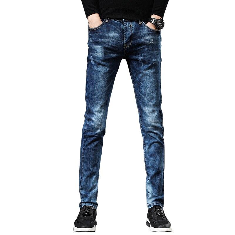Мужские джинсы, мужские джинсы, мужские брюки, корейские джинсы, брюки, джинсовые брюки, джинсовые брюки, мужские синие модные новые повседн...