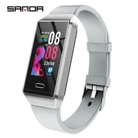 sandas new x9 intelligent bracelet sports health record step large screen multi touch led heart rate monitoring smart watches