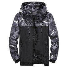 2021 Hot Sale windbreaker jacket men autumn outdoor hooded jacket men large size windbreaker zipper