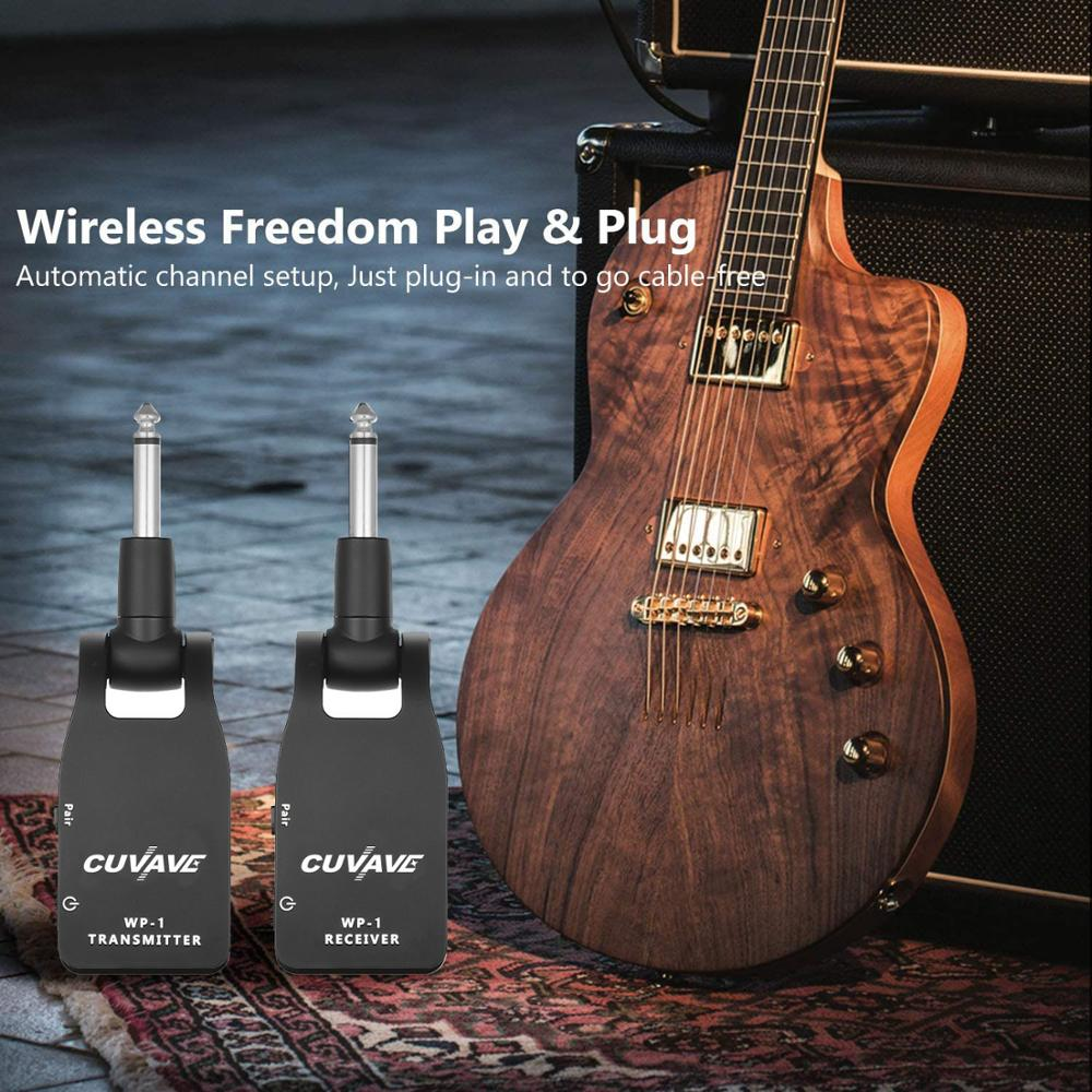5.8G Wireless Guitar System with QC USB Quick Charger 1100mAh Battery,2.4G Transmitter Receiver Rechargeable UHF Guitar Wireless enlarge