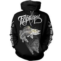 3d full printing fish reaper hoodie unisex harajuku sweatshirt autumn winter hip hop casual jacket g 125