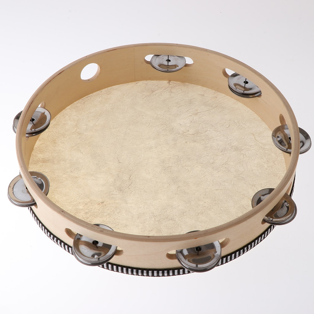 10-дюймовый Тамбурин, ударный барабан, детские музыкальные развивающие игрушки