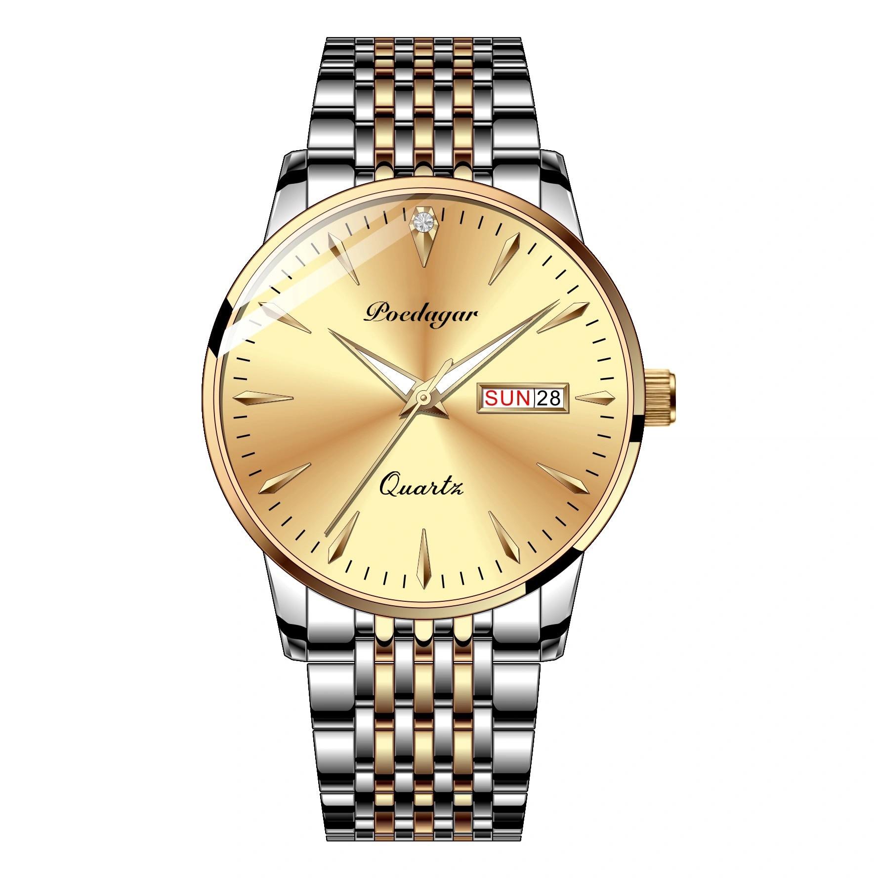 POEDAGAR Top Brand Luxury Mens Watch 50m Waterproof Date Clock Male Sports Watches Men Quartz Wrist for Man