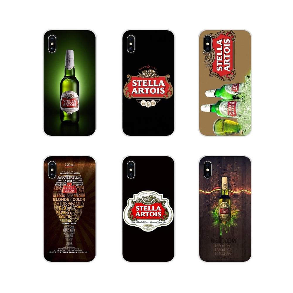 Para Xiaomi Redmi Note 3 4 5 6 7 8 Pro Mi Max Mix 2 3 2S pocofone F1 Stella Artois cerveza Logo Poster fundas transparentes suaves