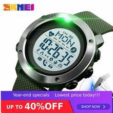 SKMEI montre intelligente Sport hommes montre étanche en acier anneau Bluetooth magnétique charge électronique boussole reloj inteligent 1511
