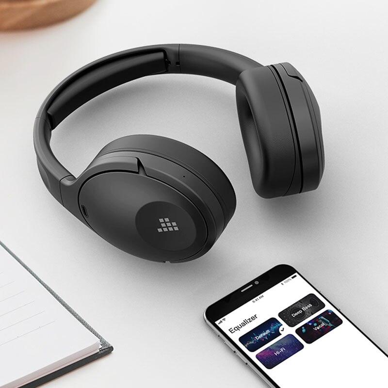 Tronsmart Apollo Q10 سماعات بلوتوث 5.0 نشط إلغاء الضوضاء سماعات رأس لاسلكية with100-hour اللعب ، اللمس/App التحكم