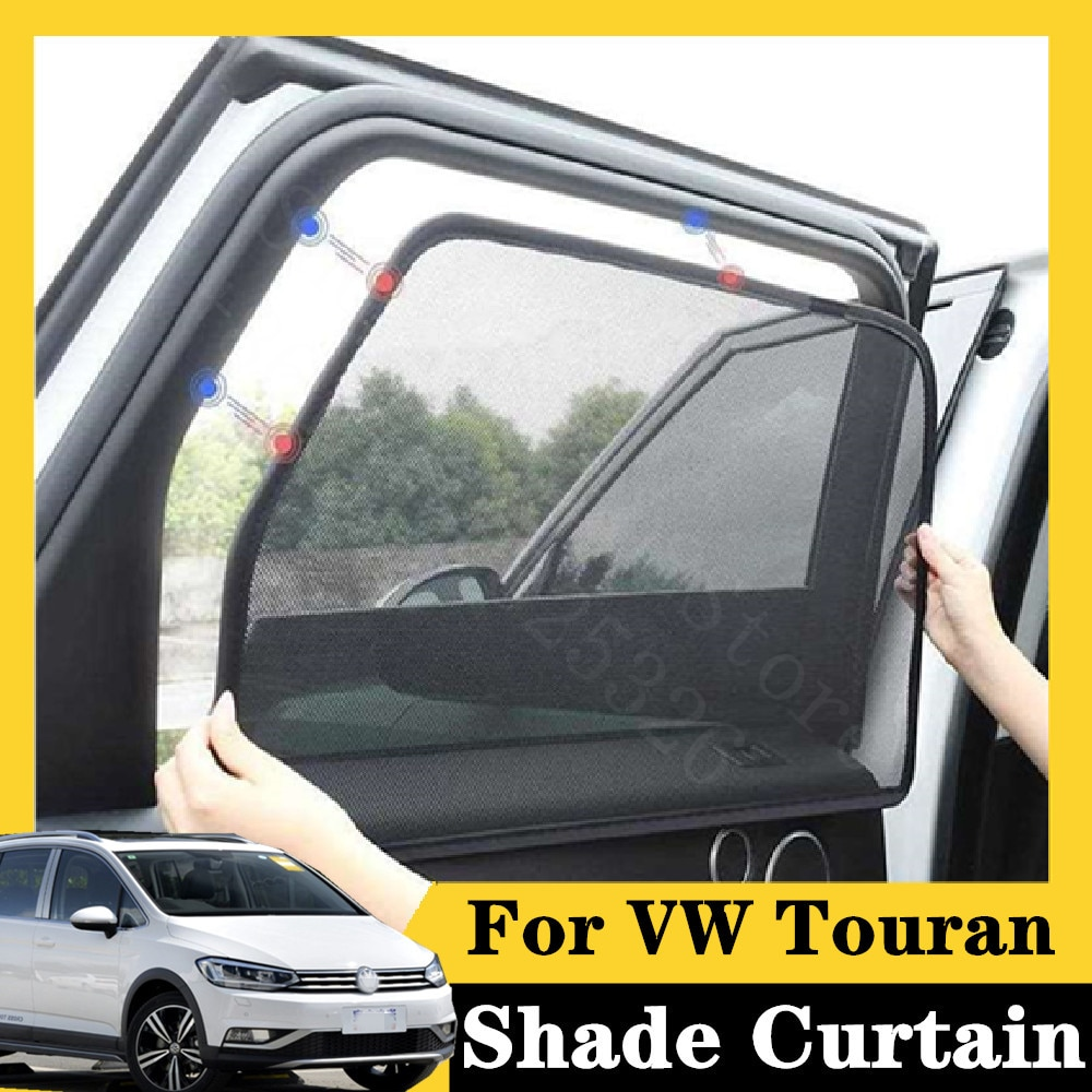 Para VW Touran 2016-2020 L 280TSI DSG 7 uds, cortina de Coche magnético tipo tarjeta, parasol para ventana de coche, estilismo para coche