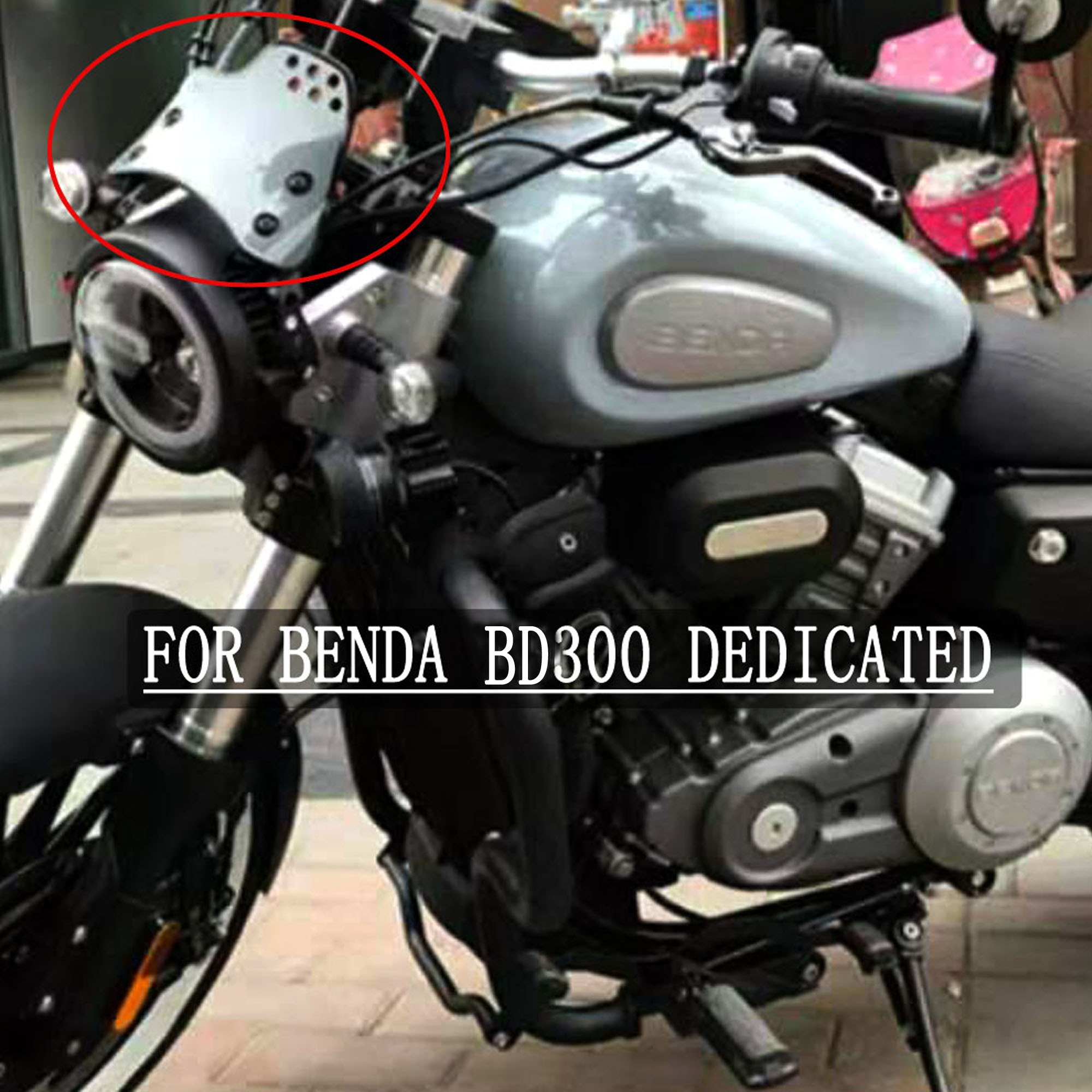 لدراجة نارية BENDA BD300 بتصميم عتيق زجاج أمامي يطبق BENDA BD300 BD 300