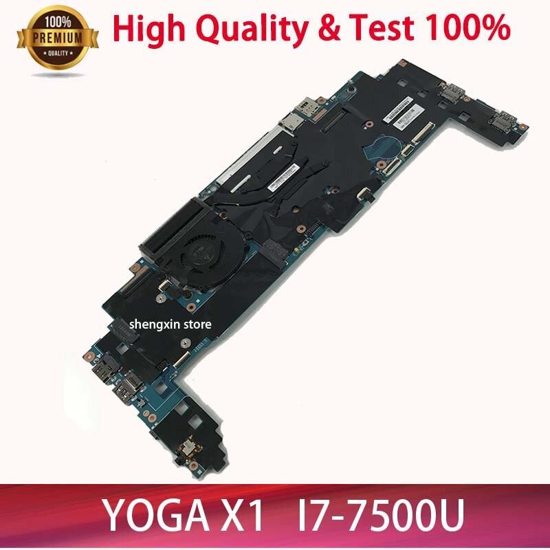 جديد 16822-1 LRV2 MB 448.0A913.0011 اللوحة لينوفو ثينك باد اليوغا X1 اللوحة المحمول i7-7500 16GB RAM 01YR149 اختبار 100%