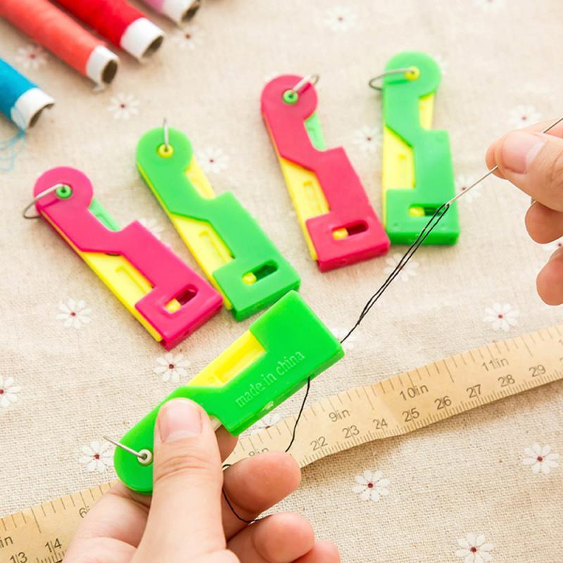 Cortador de hilo artesanal con mango de plástico + enhebrador para coser,...