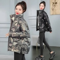 ladies clothing down jacket 2021 autumnwinter new style short thick loose female harajuku jacket female trend