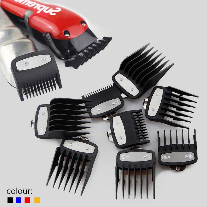 8 Pcs Universal Hair Clipper 1.5/3/4.5/6/10/13/19/25mm Limit Combs Electric Clipper Positioning Comb Replacement Tools For WAHL enlarge