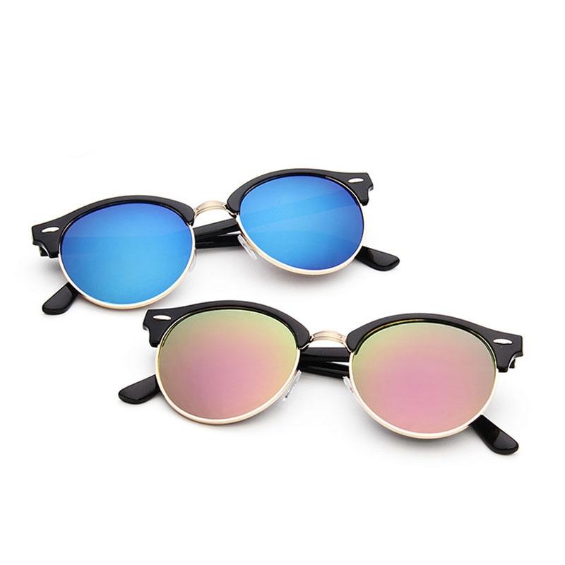 Semi Rimless Round Sunglasses Women Fashion 2020 Shades For Men Oversized Glasses Goggles Vintage Re