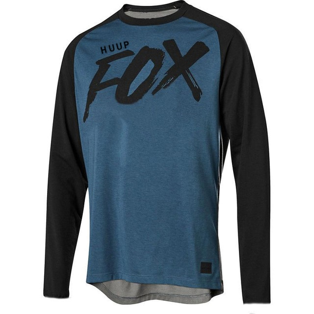 HUUP foxmtb-Camiseta de descenso para hombre de camiseta de amouflage para bicicleta...