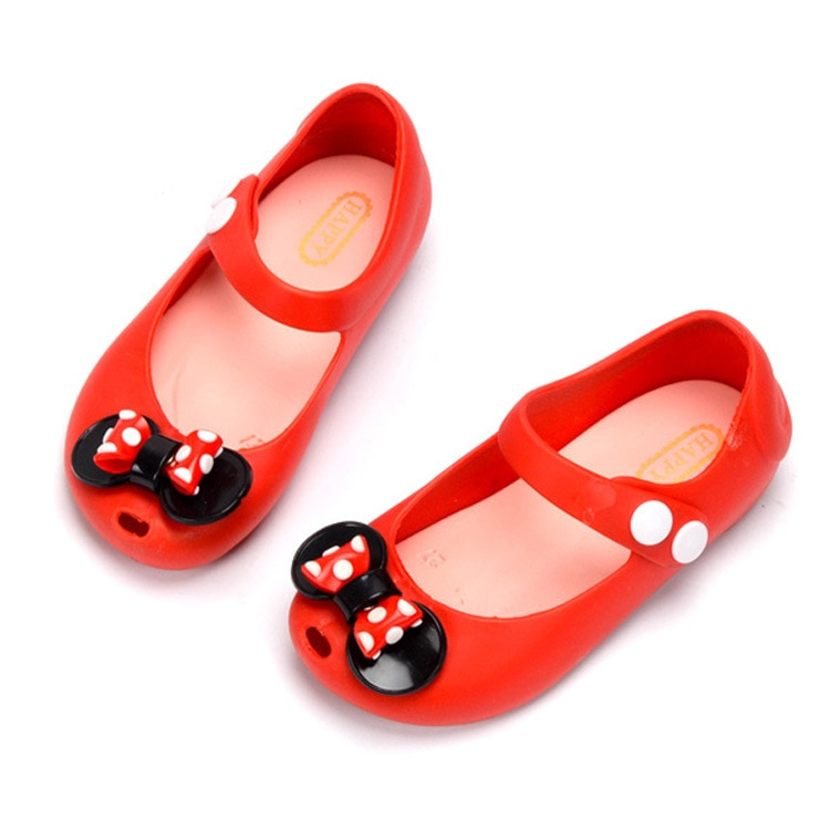JY, sandalias de gelatina con lazo de lunares para niña de verano, sandalias antideslizantes de pvc para niñas pequeñas, 24-32-4 años, 4 colores, TX03