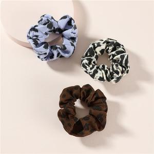 LUNA CHIAO Women Hair Accessories for Fall Winter Leopard Zibra Cheetah Pattern Donut Scrunchies-Ponytail Holders