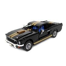 Moc-mustang GT Kits mécanique 110 assembler modèle technique course voiture bloc de construction accessoire briques créatives jouet enfants cadeaux