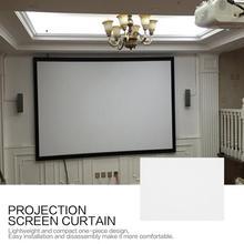 60 pouces 84 pouces écran de Projection rideau Non-tissé tissu blanc doux Portable pour KTV Ba salle de conférence Home cinéma
