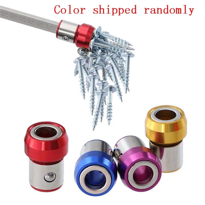 Anillo magnético de 6,35 mm para broca de destornillador, magnetizador fuerte anticorrosión de metal para tornillos