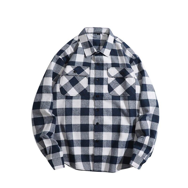 Рубашки оригинальная хлопковая рубашка мужские рубашки рубашка в клетку мужская одежда мужские модные клетчатые Топы Верхняя одежда 2021 По...