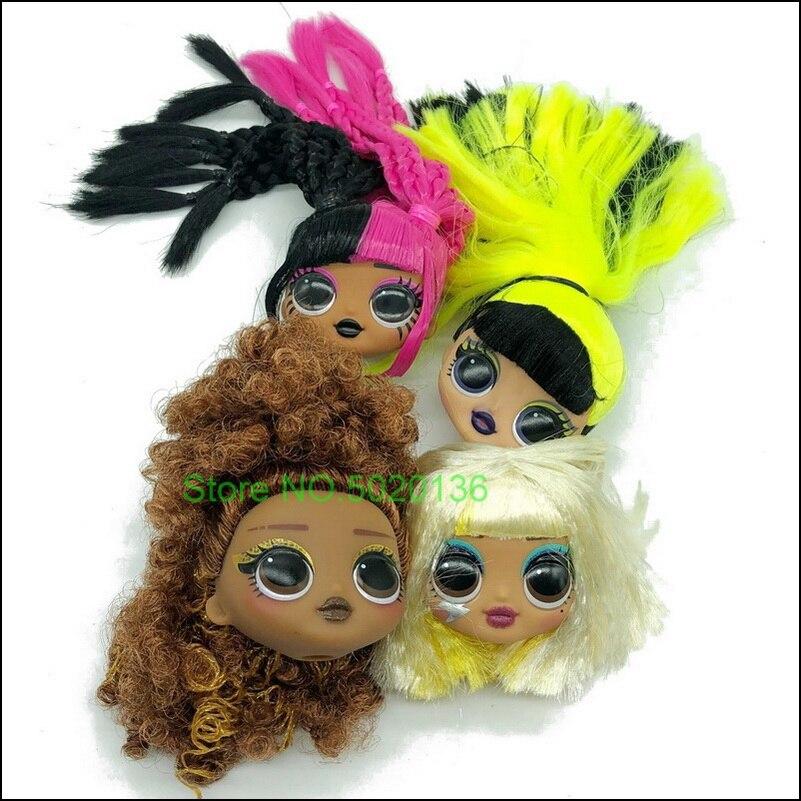 L. o. l. Surpresa! Omg remix super surpresa incluindo 4 moda lols bonecas cabeça e acessórios nenhum corpo