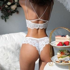 Thong feminine European and American lace hot low-waist sports hip-lifting panties women's T-pants