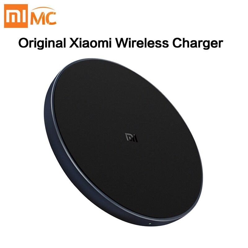Новинка 2019, беспроводное зарядное устройство Xiaomi Qi, быстрая зарядка, умное быстрое зарядное устройство 7,5 Вт для Mi MIX 2S iPhone X XR XS 8 plus 10 Вт для Sumsung S9