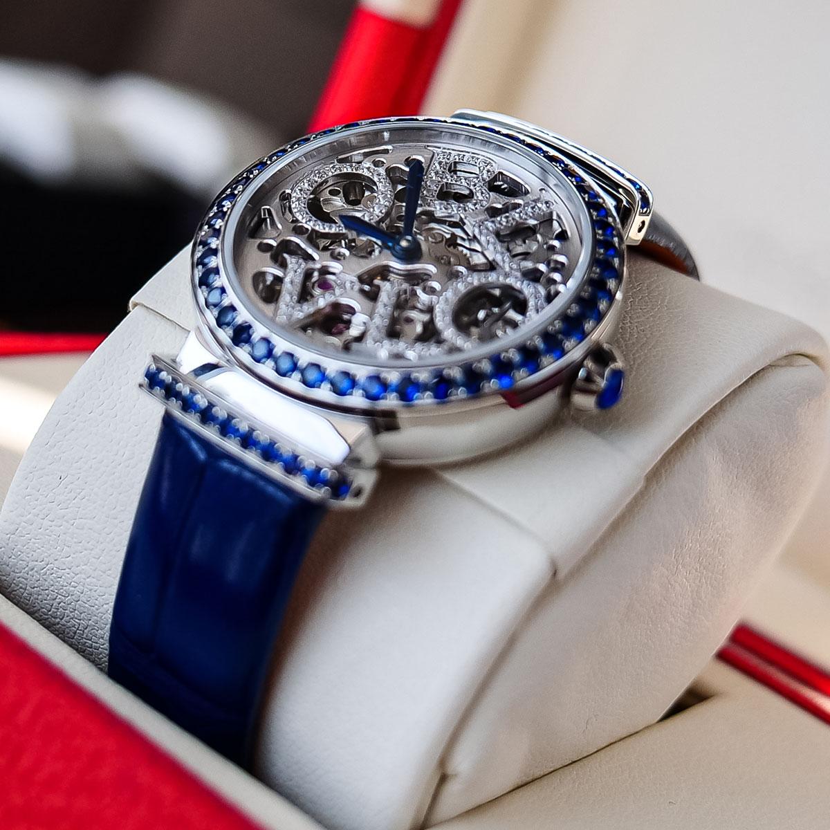 OBLVLO New Design Women Steel Skeleton Automatic Watches Top Brand Luxury Female Wrist Watch Clock Leather Relogio Feminino enlarge