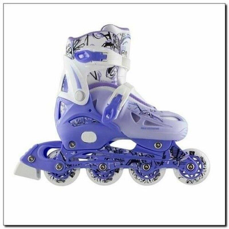 موضة جديدة أحذية التزلج حذاء للأطفال مجموعة 4 في 1 حجم م (35-38) الفتيان والفتيات صف واحد التزلج على الجليد الزلاجات
