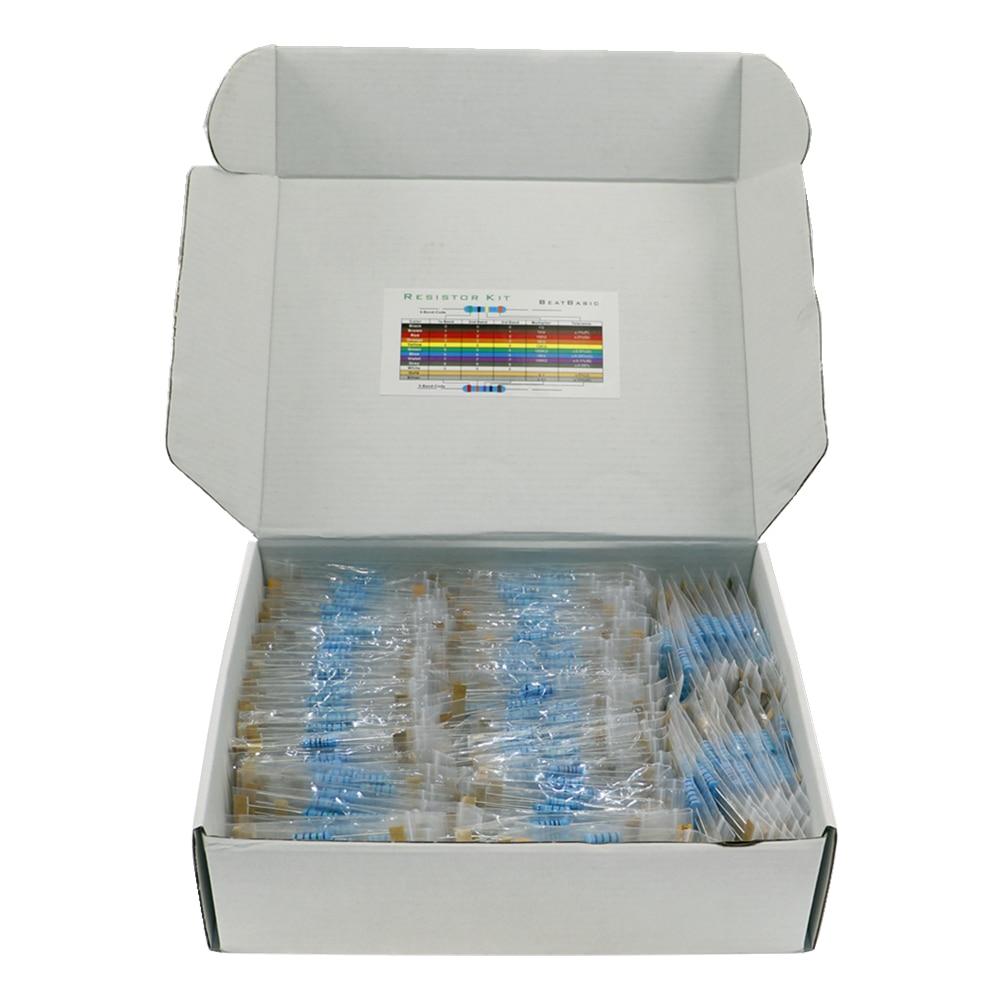 1300pcs 130Values 2W 1% Metal Film Resistors Assorted Pack Kit Set Lot Resistors Assortment Kits Fixed capacitors
