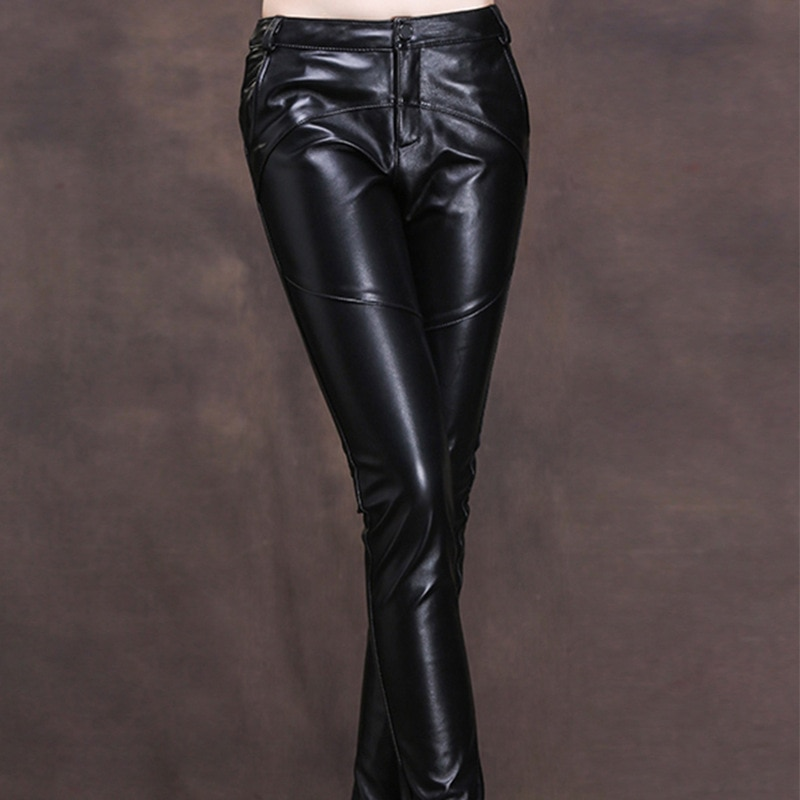 Simple Comfortable Real Sheepskin Black Wide Leg Pants Women's 2021 Spring Leather Casual Capris Casual Female Wear