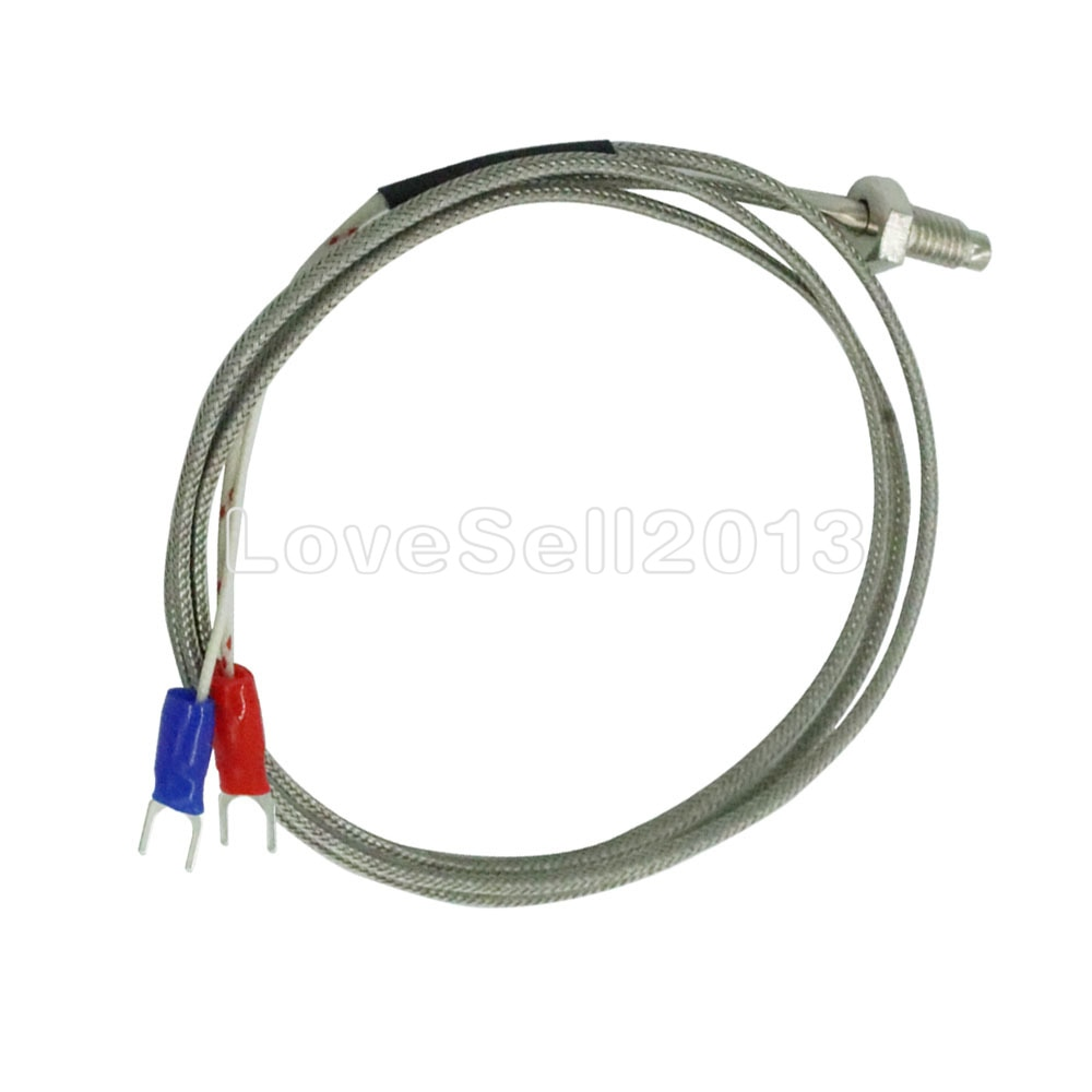 1M K tipo rosca de Control de termopar M6 Sonda de tornillo Sensor de temperatura controlador de temperatura 0-400C sonda del Sensor