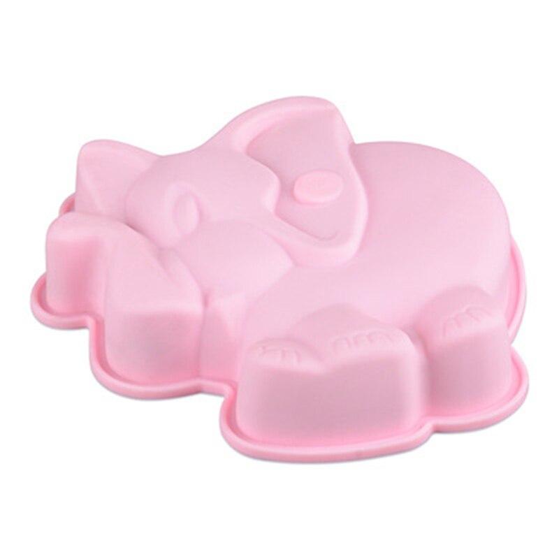 Gran oferta elefante de silicona para hornear moldes Chocolate torta de Pan Pudding moldes para gelatina utensilios para horneat diy herramientas de cocina jabón el arte