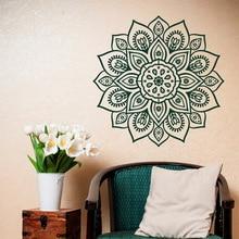 Autocollant mural amovible   Autocollant mural vinyle pour Mandala, Studio dart et de Yoga, décor bohème, salle Morrocan, décoration de Mandala, papier peint C427