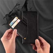 Stijlvolle Retro Pu Leather Flip Card Slot Mobiele Telefoon Holster Voor Iphone 6 6S 7 8 Plus X Xr xs Max 11 11Pro Mobiele Telefoon Holster