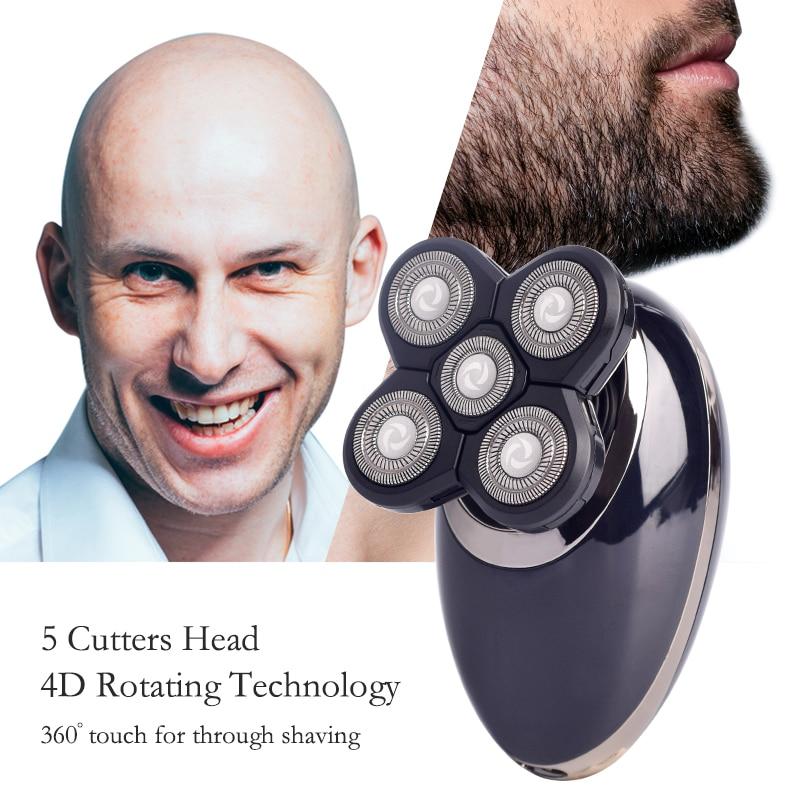Men's Shaver Electric Shaver for Men Beard Trimmer Hair Clipper Floating 5 Blade 4D Head Face Shaving Machine Rechargeable Razor enlarge